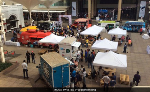 (Image Tweeted by @gophoenixing) The two-day food extravaganza began on Friday with  nearly 10 trucks offering a rich food experience to everyone who  wants to eat authentic street food.