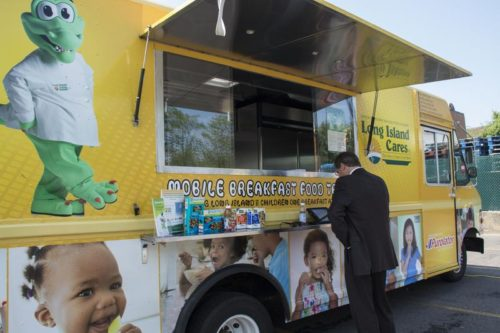 Long Island Cares launches its second food truck,  and its first solely dedicated to Suffolk County,  this week. JESSICA OPATICH / WSHU