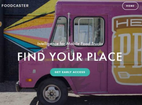 Foodcaster, a Denver mobile app that aims  to help food trucks find the best place to park.