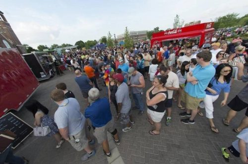 Last week's rain won't shorten the season  for Food Truck Fridays. The popular Rock Hill attraction will  add a date in October. Herald file photo