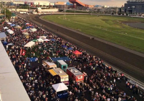 Thousands pack Meadowlands Racetrack for a prior JerseyFest Food Truck MashUp. (EJA )