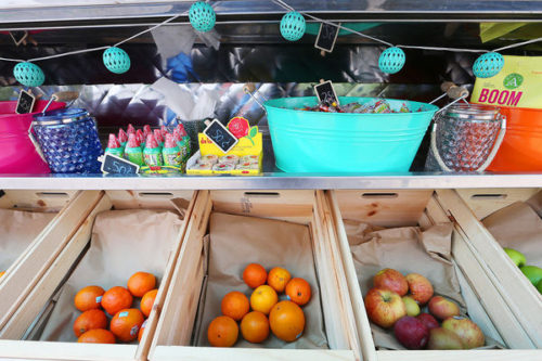 Valentin Atayde of Mercadito Food Truck Fresh fruit is one of the healthy options at Francisco Valentin Salazar Atayde's Mercadito Food Truck,  which opened in mid-April. J.L. Sousa/Register