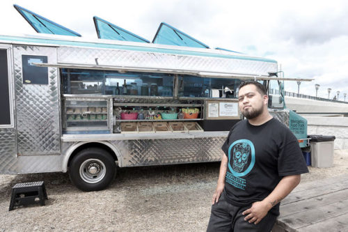 Valentin Atayde of Mercadito Food Truck Francisco Valentin Salazar Atayde opened Mercadito Food Truck at 728 First St. in mid-April.  His mission is to serve as many organic products as possible while  keeping it affordable. The menu  includes traditional, authentic food found in  Mexico City.