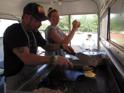 Photo by Pete DeMola Josh Zack and Sarah King run Poco Más Tacos, a staple on the local food scene.