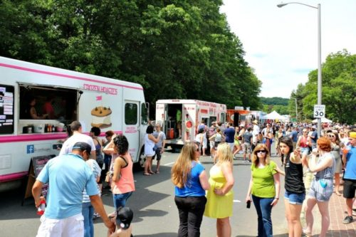 More than 20 food trucks were in Worcester's Elm Park Saturday.