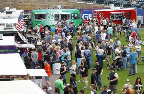 Food trucks similar to these at the Lehigh Valley Food Truck Festival will invade Atlantic City's Bass Pro Shops Outpost every Friday through September. (File photo) (File photo)
