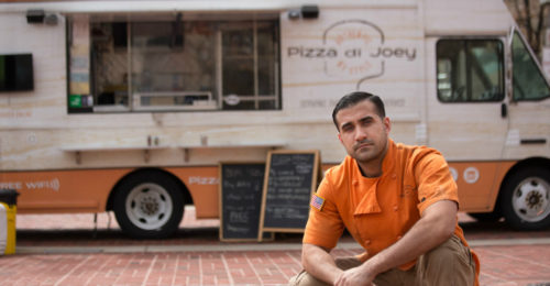 Joey Vanoni, owner of Baltimore's Pizza di Joey, is challenging a city ordinance  prohibiting him from parking his food truck  within 300 feet of a restaurant that has  pizza on its menu. (Photo: Institute for Justice)