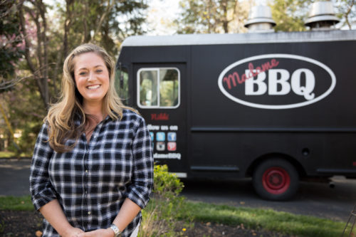 Nikki McGowan, owner of Madame BBQ, is challenging  a Baltimore ordinance prohibiting her  from parking her food truck within  300 feet of a restaurant that sells similar food.  (Photo: Institute for Justice)