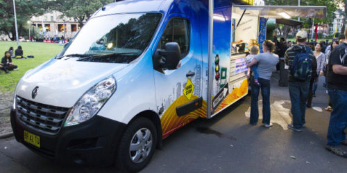 CITY OF SYDNEY Urban Pasta, a food truck which operates in and around Sydney.
