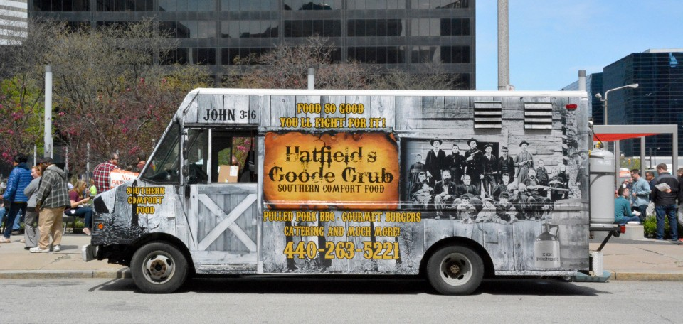 Cleveland, OH: Cleveland's Walnut Wednesday food trucks for June 1, and a look at Hatfield's Goode Grub