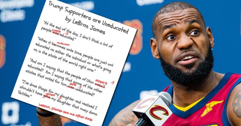 """836688dc6a1 LeBron James Ridiculed After Calling Trump Supporters """"Uneducated"""""""