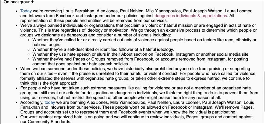 Exclusive: Facebook Letter Designates Infowars As Terrorist Organization