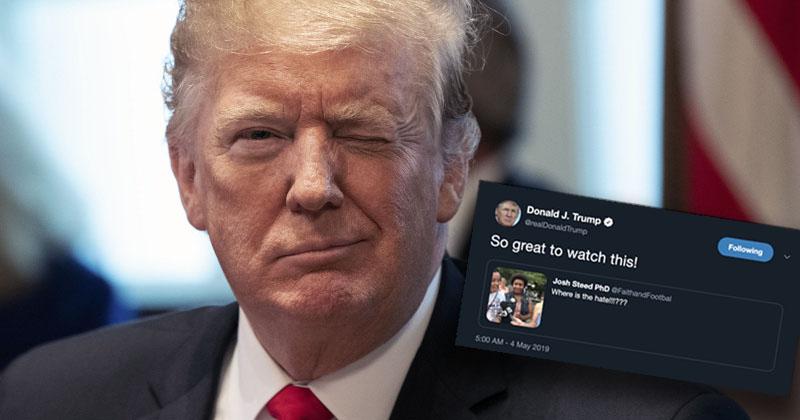 President Trump Retweets Infowars Video Amid Facebook Purge
