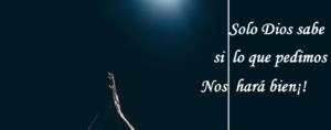 En la soberanía de Dios somos escuchados