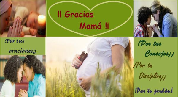 En el día de la madre digamos !Gracias mamá¡
