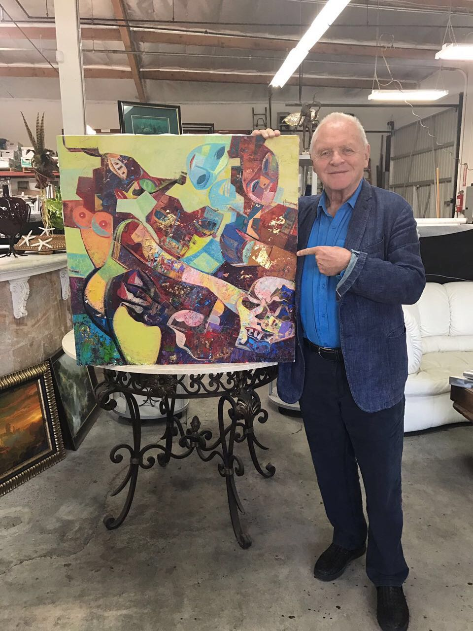 Igor Tcholaria painting in collection of Anthony Hopkins