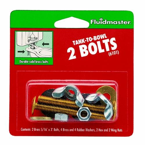 Fluidmaster Brass Toilet Bowl Bolt Set