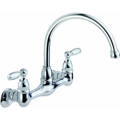Delta Faucet Peerless 2-Handle Wall Mount Kitchen Faucet