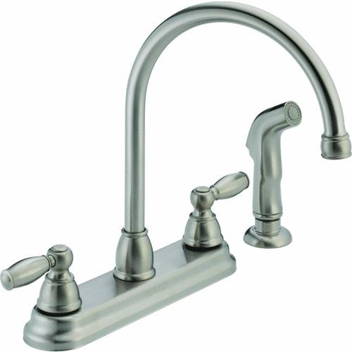 Delta Faucet Peerless 2-Handle Kitchen Faucet With Spray