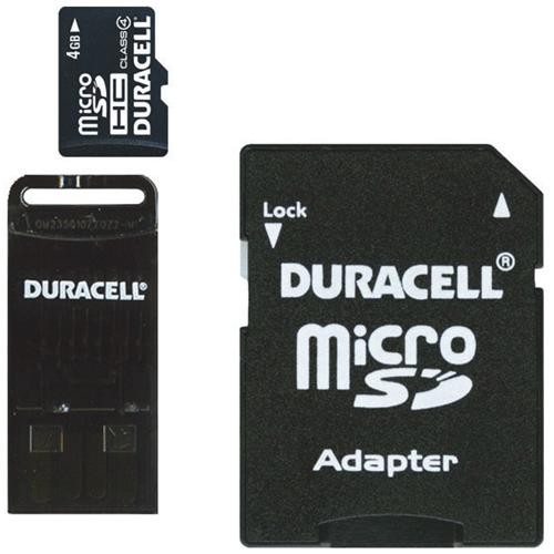 Dane-Elec Duracell Micro SD Memory Card With SD And USB Adapter