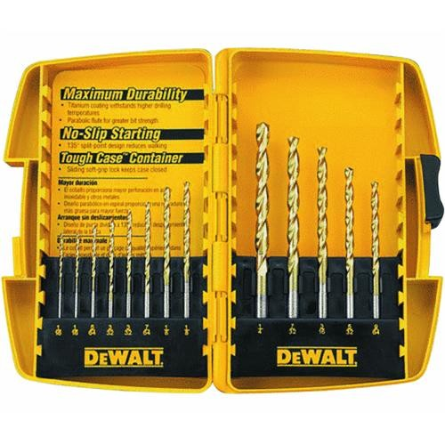 Black & Decker/DWLT DeWalt 13-Piece Titanium Drill Bit Set
