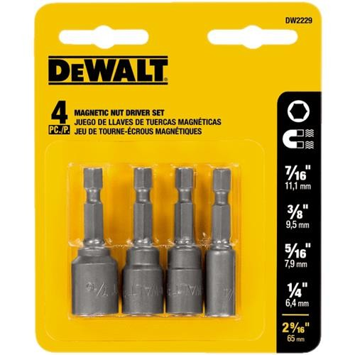Black & Decker/DWLT DeWalt 4-Piece Magnetic Nutdriver Bit Set