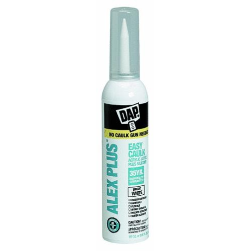 Dap DAP ALEX PLUS Easy Caulk Siliconized Latex Caulk