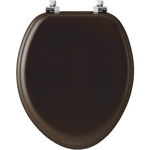 Bemis/Mayfair Walnut Veneer Elongated Toilet Seat