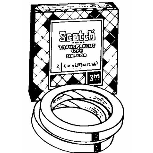 3M Scotch Transparent Tape Refill