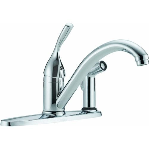 Delta Faucet Delta Single Handle Kitchen Faucet With Spray