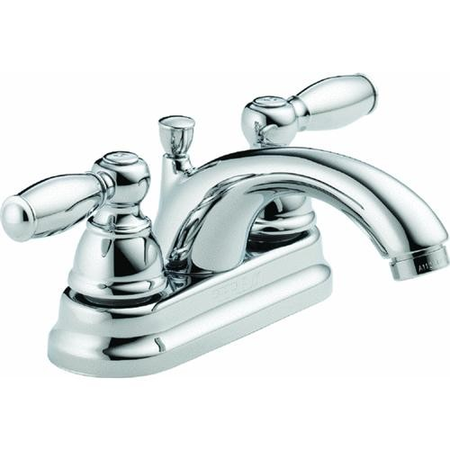 Delta Faucet Peerless 2 Lever Handles Lavatory Faucet With Pop-Up