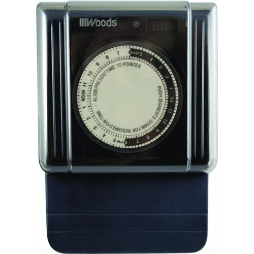 Woods Ind. Woods 24 Hour Mechanical Outdoor Timer