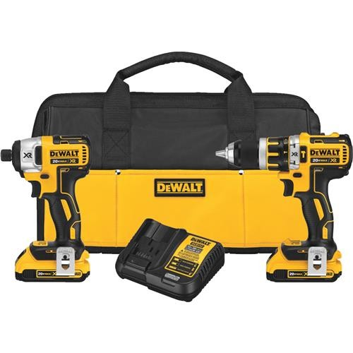 Dewalt DeWalt 20V MAX XR Brushless Lithium-Ion Hammer Drill and Impact Cordless Tool Combo Kit