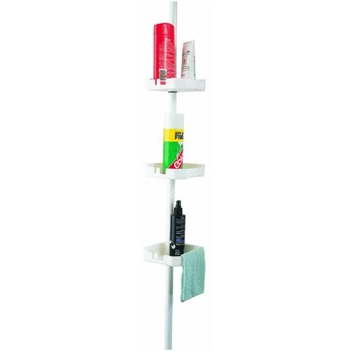 Zenith Prod. Zenith 3-Shelf Tension Pole Corner Shower Caddy