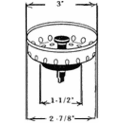 United States Hdwe. Basket Strainer