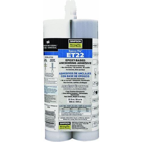 Simpson Strong-Tie Epoxy-Tie 22 Oz Anchoring Adhesive