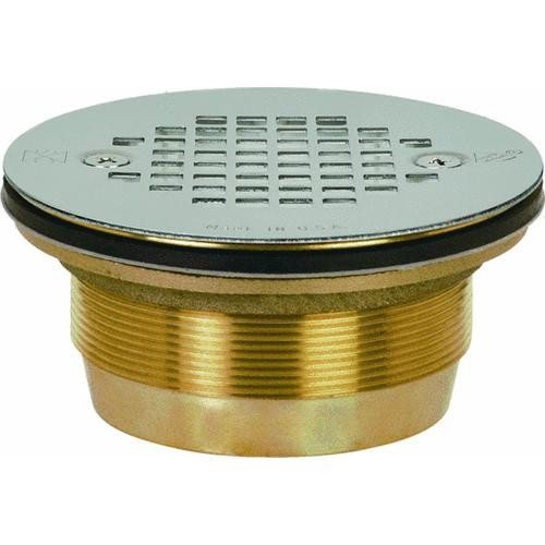 Sioux Chief Cast No-Caulk Shower Drain With Stainless Steel Strainer