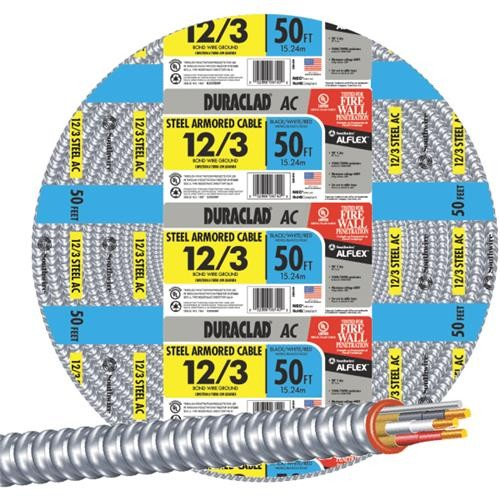 Southwire Southwire 12/3 Steel Armored Cable