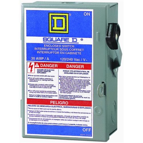 Square D Co. Square D Enclosed Safety Switch With Neutral