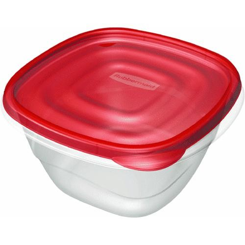 Rubbermaid Home 4-Piece Square Food Storage Container