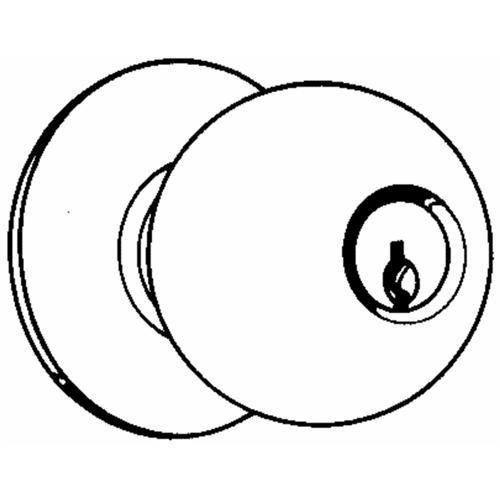 Schlage Lock Orbit Triple Option Entrance Knob Lockset