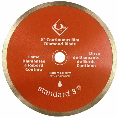 Q.E.P./Roberts Continuous Rim Wet Diamond Cutting Blade