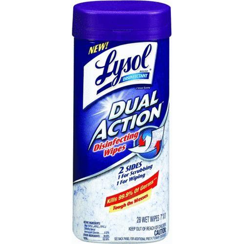 Reckitt & Benckiser Lysol Dual Action Scrubbing Wipes