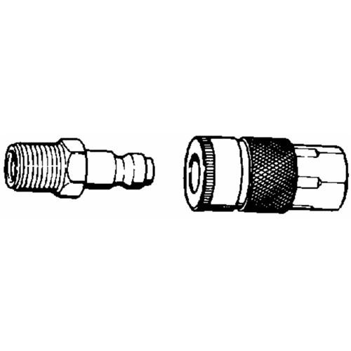 Plews/Lubrimatic Coupler And Nipple Set