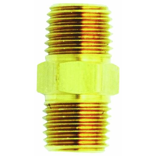 MILTON INDUSTRIES Brass Hex Nipple Coupler