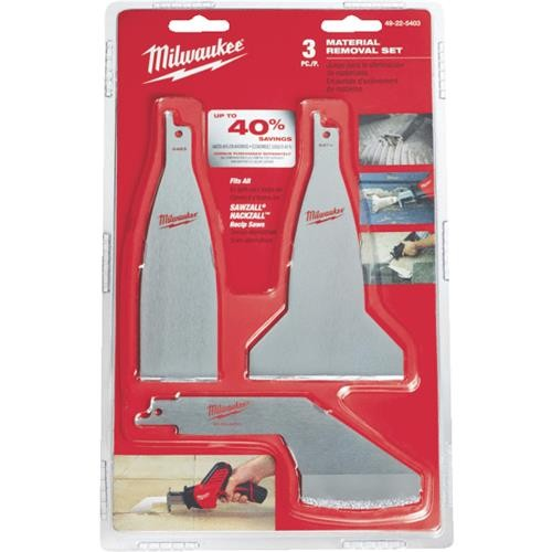 Milwaukee Accessory Milwaukee Sawzall Material Removal Reciprocating Saw Blade Set