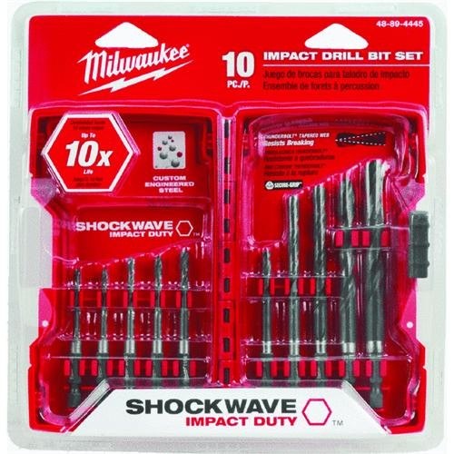 Milwaukee Elec.Tool Milwaukee Shockwave 10-Piece Impact Duty Hex Shank Drill Bit Set