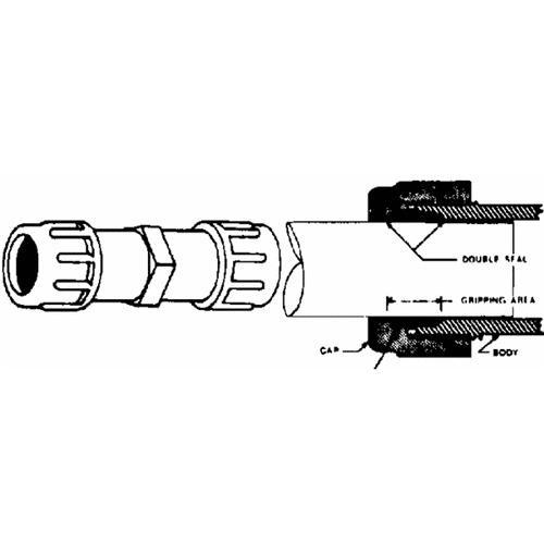 Mueller/B & K PVC Plastic Compression Coupling