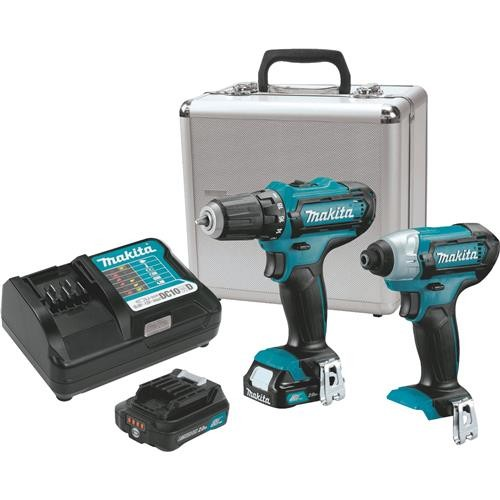 Makita Makita 12V Max Lithium-lon Drill and Impact Cordless Tool Combo Kit