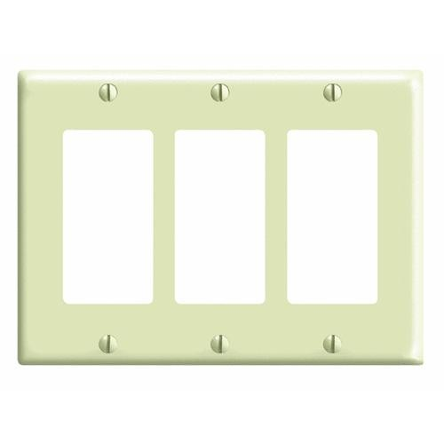 Leviton Leviton DECORA Triple Rocker Decorator Wall Plate